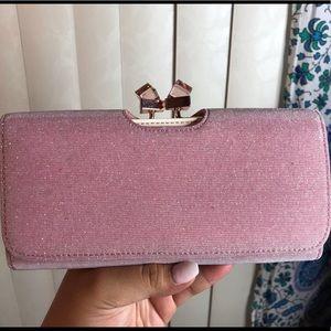 Ted Baker Twisted Crystal Wallet (Shimmer Pink)